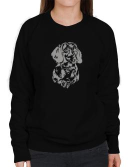 Dachshund Face Special Graphic Sweatshirt-Womens