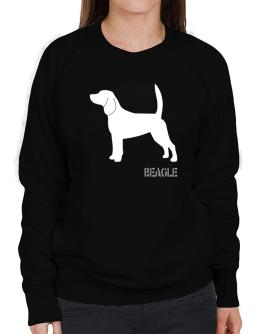 Beagle Stencil / Chees Sweatshirt-Womens