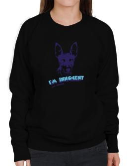 I'M INNOCENT Fox Terrier Sweatshirt-Womens