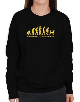 Evolution Of The Beagle Sweatshirt-Womens