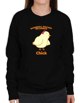 Baseball Pocket Billiards Chick Sweatshirt-Womens