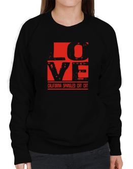 Love California Spangled Cat Sweatshirt-Womens