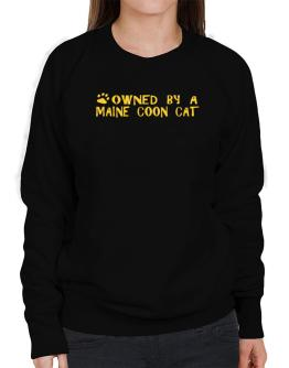 Owned By A Maine Coon Sweatshirt-Womens