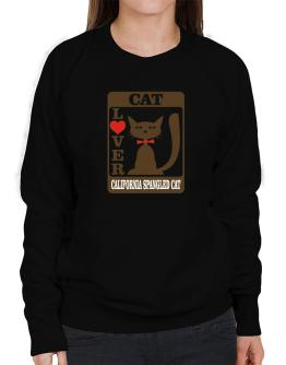 Cat Lover - California Spangled Cat Sweatshirt-Womens