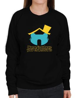 Home Is Where Chartreux Is Sweatshirt-Womens