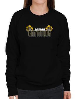 Safari Cattitude Sweatshirt-Womens