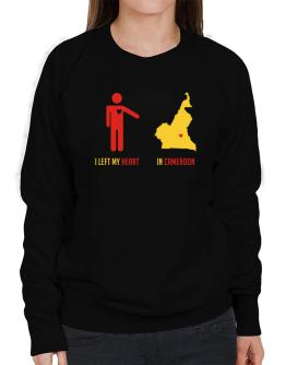 I Left My Heart In Cameroon - Map Sweatshirt-Womens