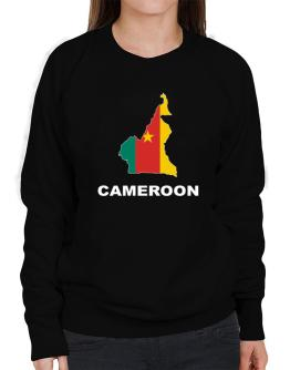 Cameroon - Country Map Color Sweatshirt-Womens