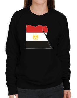 Egypt - Country Map Color Simple Sweatshirt-Womens