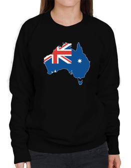 Australia - Country Map Color Simple Sweatshirt-Womens