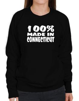 100% Made In Connecticut Sweatshirt-Womens