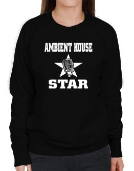 Ambient House Star - Microphone Sweatshirt-Womens