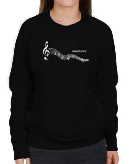 Ambient House - Notes Sweatshirt-Womens