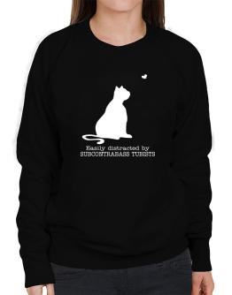 Easily Distracted By Subcontrabass Tubists Sweatshirt-Womens