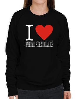 I Love Baseball Pocket Billiards Classic Sweatshirt-Womens