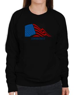 Flag Usa Connecticut Sweatshirt-Womens