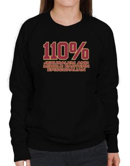 110% Jerusalem And Middle Eastern Episcopalian Sweatshirt-Womens