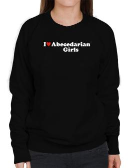 I Love Abecedarian Girls Sweatshirt-Womens