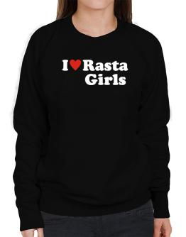 I Love Rasta Girls Sweatshirt-Womens