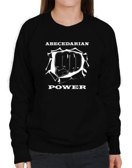 Abecedarian Power Sweatshirt-Womens