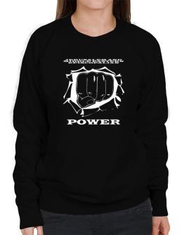 Jerusalem And Middle Eastern Episcopalian Power Sweatshirt-Womens