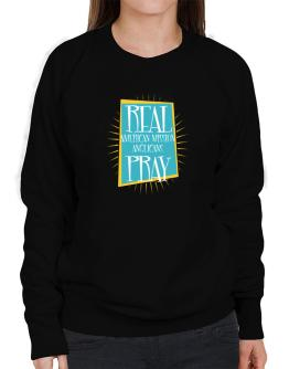 Real American Mission Anglicans Pray Sweatshirt-Womens