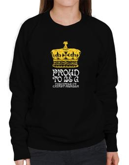 Proud To Be A Disciples Of Chirst Member Sweatshirt-Womens