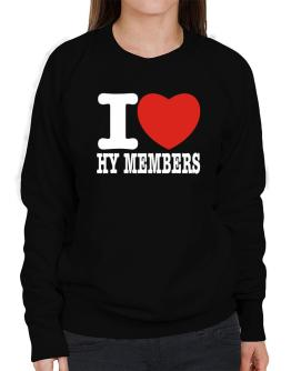 """ I love Hy Members "" Sweatshirt-Womens"