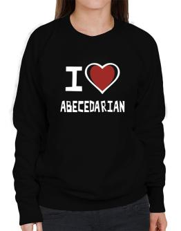 I Love Abecedarian Sweatshirt-Womens