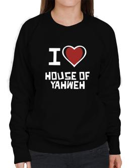 I Love House Of Yahweh Sweatshirt-Womens