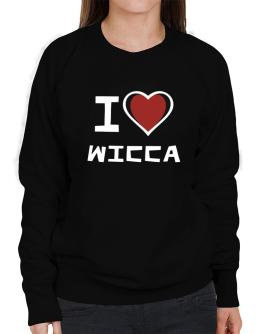 I Love Wicca Sweatshirt-Womens