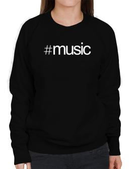 Hashtag Music Sweatshirt-Womens
