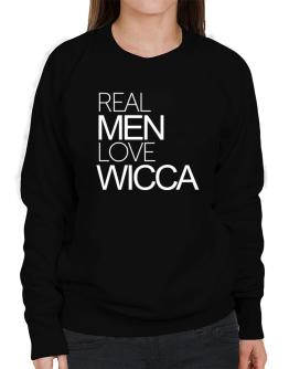 Real men love Wicca Sweatshirt-Womens