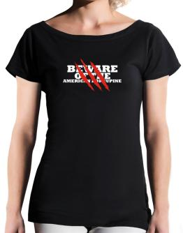 Beware Of The American Porcupine T-Shirt - Boat-Neck-Womens