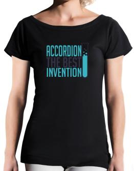 Accordion The Best Invention T-Shirt - Boat-Neck-Womens