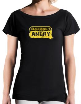 Dangerously Angry T-Shirt - Boat-Neck-Womens
