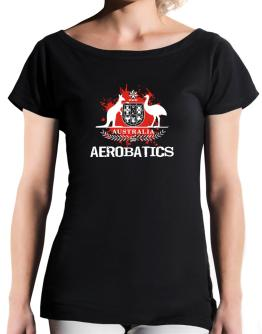 Australia Aerobatics / Blood T-Shirt - Boat-Neck-Womens