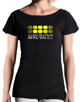 5 X 2 Aerobatics T-Shirt - Boat-Neck-Womens