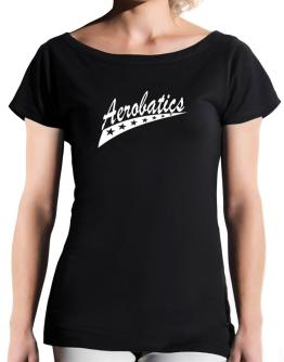 Aerobatics Star T-Shirt - Boat-Neck-Womens