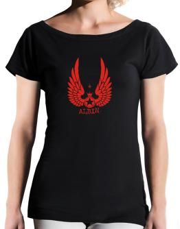 Albin - Wings T-Shirt - Boat-Neck-Womens