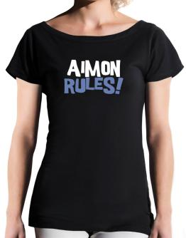Aimon Rules! T-Shirt - Boat-Neck-Womens
