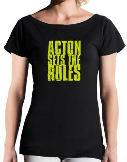 Acton Sets The Rules T-Shirt - Boat-Neck-Womens