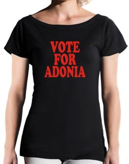 Vote For Adonia T-Shirt - Boat-Neck-Womens