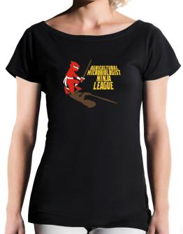 Agricultural Microbiologist Ninja League T-Shirt - Boat-Neck-Womens