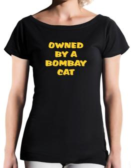 Owned By S Bombay T-Shirt - Boat-Neck-Womens