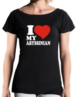 I Love My Abyssinian T-Shirt - Boat-Neck-Womens