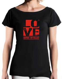 Love Abenaki Mythology T-Shirt - Boat-Neck-Womens