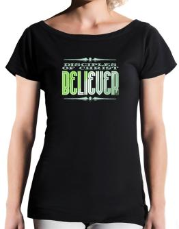 Disciples Of Christ Believer T-Shirt - Boat-Neck-Womens