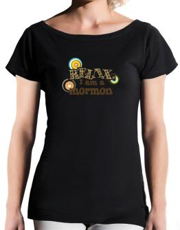 Relax, I Am A Mormon T-Shirt - Boat-Neck-Womens