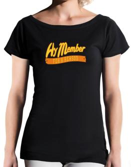 Hy Member For A Reason T-Shirt - Boat-Neck-Womens